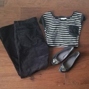 Michael Kors Black Corduroy Dress Pants